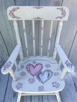 Image Rocking Chairs/Double hearts