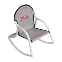 Image Canvas Rocking Chair - Gray w/ Black Trim