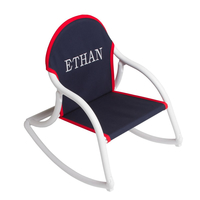 Image Canvas Rocking Chair - Navy & White
