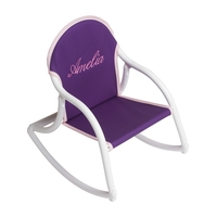 Image Canvas Rocking Chair - Purple & White