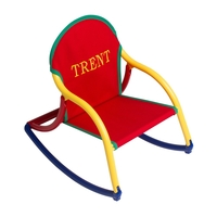 Image Canvas Rocking Chair - Red Canvas