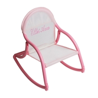 Image Mesh Rocking Chair - White & Pink