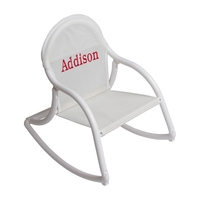 Image Mesh Rocking Chair - White Mesh