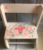 Image Small ~ Flip Stool -  Gingham Bow