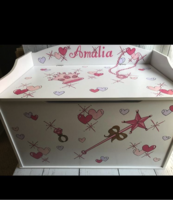 Image Large Toy Box  Little Princess